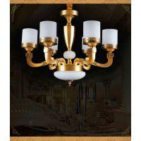 进丰JF-MD68011-6 客厅 客厅全铜吊灯 欧式铜灯