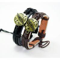 动漫周边闪电侠 义乌饰品厂家直销真皮手链批发 男女牛皮手链bracelet