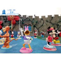 米琪雕塑 黛丝雕塑 跳跳虎米老鼠 展会道具雕塑摆件定做