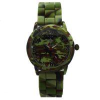 2017年热销海陆空军士学生男女通用款迷彩硅胶防水石英手表