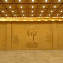 盛古装饰PU聚氨酯新款古建/墙面艺术彩绘集成吊顶直销/扣板天花