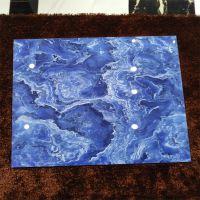 佛山市艾菲顿蓝色海洋红色火焰800x800全抛釉面砖背景墙瓷砖无线拼花仿大理石