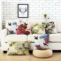 春夏秋冬田园棉麻抱枕定制 美式沙发靠垫套含芯汽车靠枕靠背