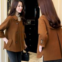 新款女短装春秋装韩版显瘦女装大码呢子修身小款毛呢外套外衣呢子外套