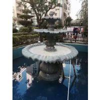 人造石大喷泉 砂岩水景三层水盆雕塑 景观楼盘喷水石盆厂