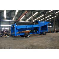 出口移动式淘金车 旱地采金设备 河沙淘金机械
