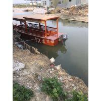 厂家生产观光旅游双蓬船 餐饮公园木船可加工定制