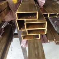 H63黄铜扁管20*30*1.5mm长度4米定尺半硬黄铜扁管批发零售