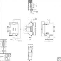 MICRO 沉板贴片式母座B型沉板1.6MM两脚贴片SMT5P卷边 雾锡