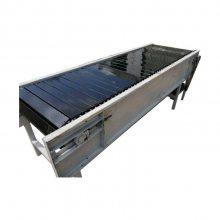 封闭式板链输送机各种规格 输送电机链板输送机视频定制厂家
