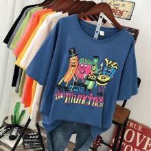 厂家清货大量便宜女士T恤夏季纯棉女士短袖批发库存服装批发