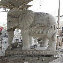 厂家直销石材大象 招财 花岗岩门口石雕大象 可来图订做