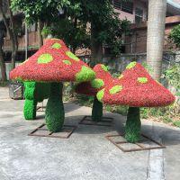深圳仿真植物绿雕东莞紫萱厂家制造大型仿真动物绿雕熊猫造型卡通动物雕塑园林广场主题公园装饰摆件