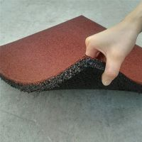 橡胶地垫批发 斗门小区塑胶地砖 儿童游乐场所防滑安全地垫