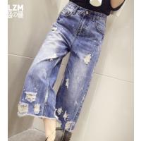 地摊货源外贸服装批发厂家现有大量服装女士牛仔阔腿裤韩版时尚