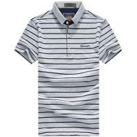 夏季青年男装条纹标准版男式T恤 速卖通外贸男式T恤 男士短袖polo衫 忆惜格罗