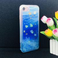 iphone7/8TPU流沙手机壳 双色吊染工艺彩绘壳 个性定制女款全包软壳 流沙壳厂家