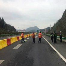 道路施工工程防护栏滚塑水马生产厂家