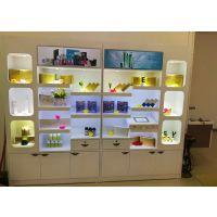 深圳中域展柜厂设计制作高端化妆品烤漆展示柜