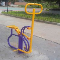广州小区埋地双人浪板 柏克儿童跷跷板批发 114管健身路径定制