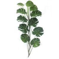 东莞企石浩晟仿真龟背叶 把束 形状逼真 绿色叶子