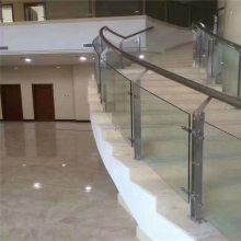 耀恒 不锈钢立柱钢化玻璃栏杆扶手 艺术简化安装栏杆立柱