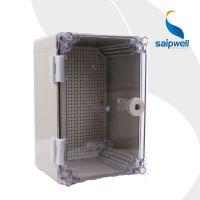 斯普威尔供应 SP-AT-302016 300*200*160透明盖防水配电箱 带锁塑料仪器仪表箱