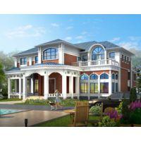 九江别墅设计AT1606二层豪华带双车库大型别墅设计施工图纸19.8mx20.1m