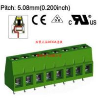 MB310-508原装正品台湾DECA进联间距5.0钢芯绿色接线端子
