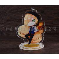 上海金属摆件定做卡通动漫周边人物立牌定做双面镜片制作