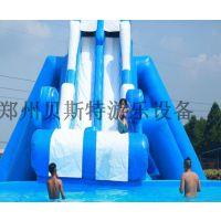 河南儿童游乐设备水乐园充气水滑梯非常棒有趣