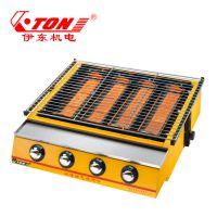 伊东厂家 K255-B燃气烧烤炉 喷涂户外加厚多功能烤肉机 环保烤生蚝烧烤炉工具