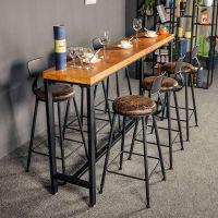 麦德嘉MDJ-LO08D定制LOFT工业风实木会议桌长桌美式乡村大板办公桌餐厅吧台桌子