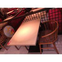 倍斯特现货日式主题餐厅防火板桌餐厅百搭款餐桌川菜火锅料理餐桌