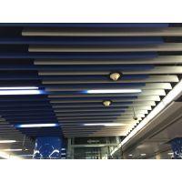 定制木纹铝方通吊顶U型槽户外广告招牌铝幕墙弧形木纹铝方通