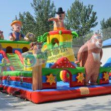 儿童乐园充气滑梯厂家现货可定做