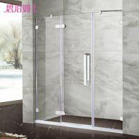 扇形铝合金简易弧形淋浴房 钢化玻璃淋浴房 定制酒店淋浴房厂家