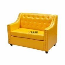 实木扶手卡座沙发定做,北欧风双人位沙发座椅