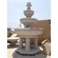 供应石材喷泉 户外水钵 花岗岩喷泉 石雕水钵现货 可来图订做