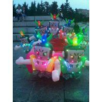 充气电瓶车儿童玩具车彩灯电瓶车广场双人玩具车