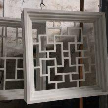 厂家定制电视机背景墙铝合金窗花 复古木纹铝窗花