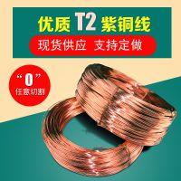 厂家直销 全软态T2紫铜线 导电专用紫铜线