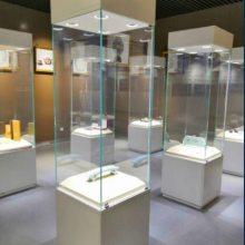 钢板材质博物馆展柜订做,深圳博物馆展示柜厂家,华信文物展柜定制