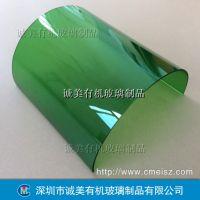 亚克力弧形折弯 压克力高温半圆热弯 深圳诚美有机玻璃精密弯折