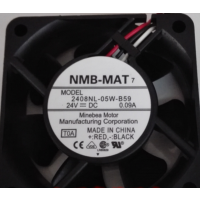 NMB-MAT7 2408NL-05W-B59 24VDC 0.09A 3线 变频器风扇