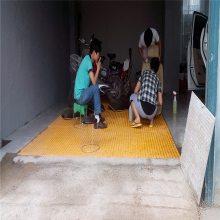 红色地沟盖板 网格栅板 塑料格栅