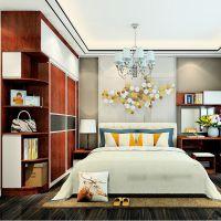 免费量尺定制全屋家具 简约实用现代卧室家具 床尾柜 衣柜 梳妆台