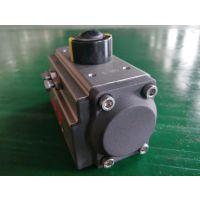 SIL3认证 硬质阳极氧化 DA52 AT型齿轮齿条气动执行器 气动球阀及蝶阀气缸