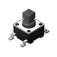 SOFNG TS-1102G 外形尺寸:6.0mm*6.0mm*7.3mm