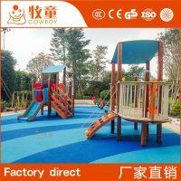 供应幼儿园儿童游乐设施 幼儿园户外攀爬 儿童木质滑梯定制
